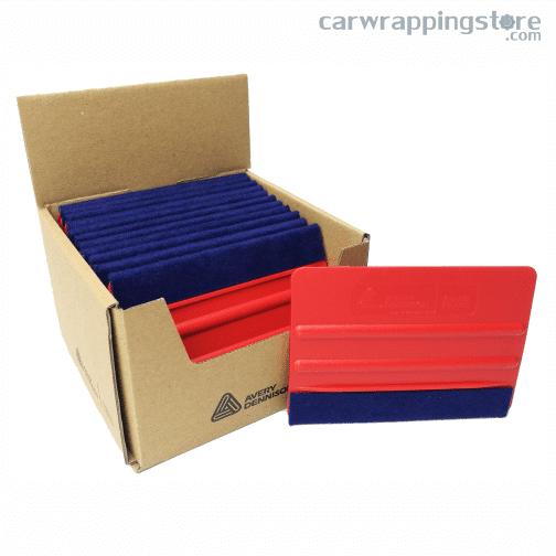 Caja espátula roja Avery flexible