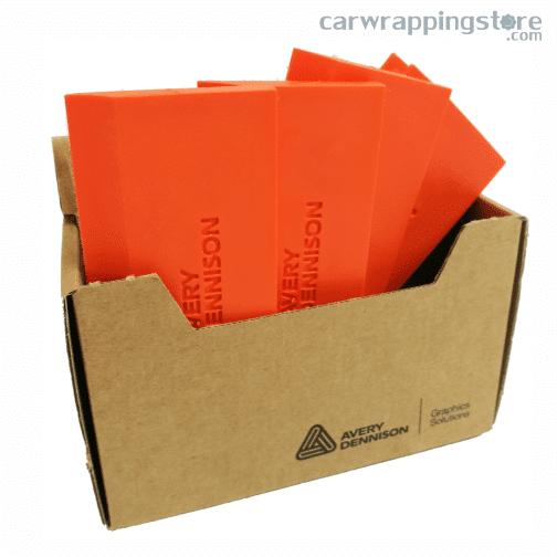 Caja Espátula Naranja Avery Dennison